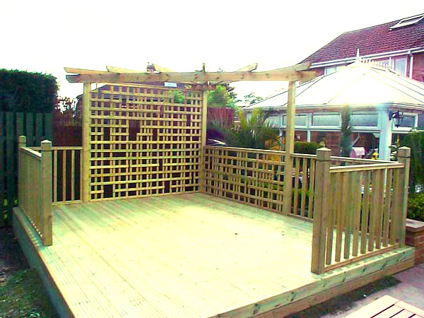 Deck With Pergola And Trellis Installed In Horsforth Leeds
